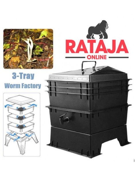 Earthworm Compost Box 80L -  3 Tray