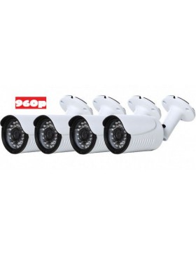 Wired 4 Channel- 960p BULLET Camera  Surveillance Kit POE